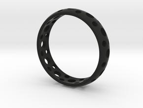 Symbol Ring in Black Natural Versatile Plastic