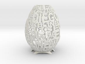 Talking Lamp in White Natural Versatile Plastic