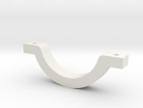 Can Stein Clamp in White Natural Versatile Plastic