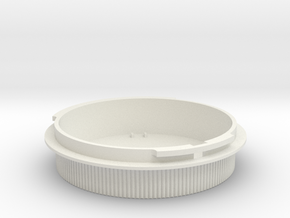 Rear lens cap for Icarex BM lenses in White Natural Versatile Plastic