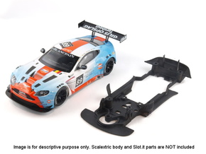 S07-ST2 Chassis for Scalextric Aston GT3 STD/STD in White Natural Versatile Plastic