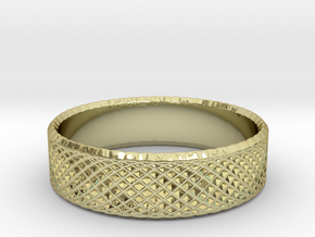 0212 Lissajous Figure Ring (Size6, 16.5mm) #017 in 18k Gold Plated Brass