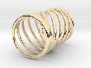 Ring of Rings No.7 in 14k Gold Plated Brass