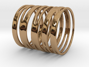 Ring of Rings No.9 in Polished Brass