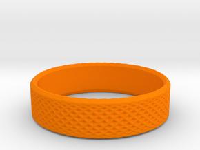 0214 Lissajous Figure Ring (Size7, 17.3mm) #019 in Orange Processed Versatile Plastic