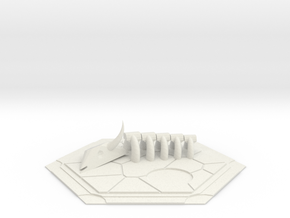 CATAN inspired Desert tile in White Natural Versatile Plastic