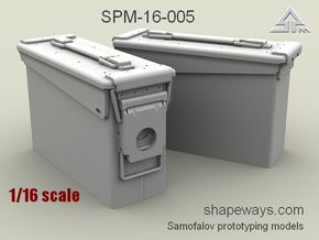 1/16 SPM-16-005 30.cal ammobox in Smoothest Fine Detail Plastic