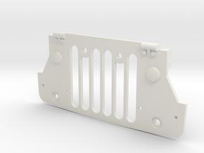 Tamiya Wild Willy M38 Grill panel in White Natural Versatile Plastic