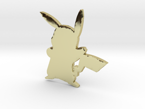3D Pikachu in 18k Gold Plated Brass