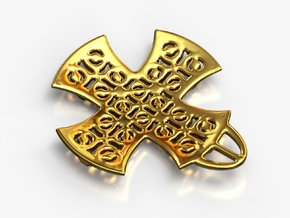 PA CMedallion V2bSE86l0D33h2 in 18k Gold Plated