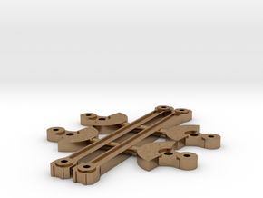 M&L Booster Truchk Counter Weights and Side Rods in Natural Brass