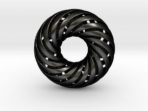 0173 8-Torus [2-2-4-4] & 8 Ball (n=8, 10.0cm) in Matte Black Steel