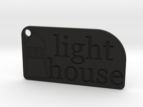 Light House Key Chain in Black Natural Versatile Plastic