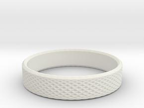 0219 Lissajous Figure Ring (Size11.5, 20.9 mm)#024 in White Natural Versatile Plastic