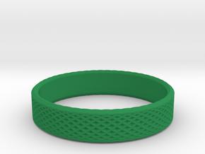 0220 Lissajous Figure Ring (Size12, 21.3 mm) #025 in Green Processed Versatile Plastic