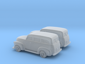 1/160 2X 1947 Chevrolet Suburban in Smooth Fine Detail Plastic