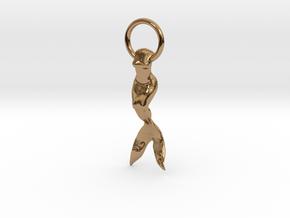 Mermaid Earring/Pendant in Polished Brass