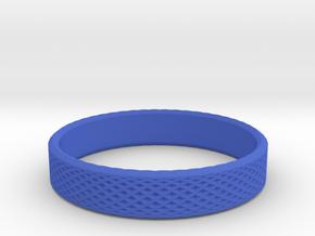 0223 Lissajous Figure Ring (Size13.5, 22.6 mm)#028 in Blue Processed Versatile Plastic