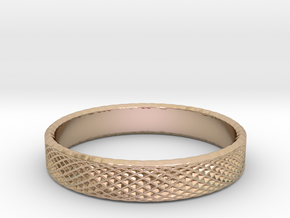 0227 Lissajous Figure Ring (Size15.5, 24.2 mm)#032 in 14k Rose Gold Plated Brass