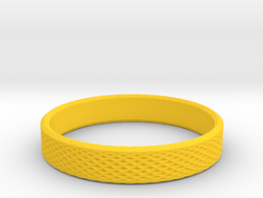 0228 Lissajous Figure Ring (Size16, 24.6 mm) #033 in Yellow Processed Versatile Plastic