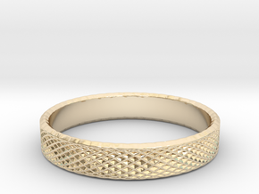 0228 Lissajous Figure Ring (Size16, 24.6 mm) #033 in 14K Yellow Gold