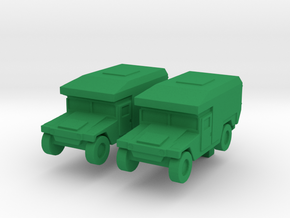 1/200 Humvee M997 set of 2 in Green Strong & Flexible Polished