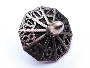 Top d10 in Polished Bronzed Silver Steel