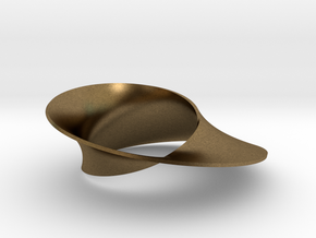 Mobius strip minimal surface in Natural Bronze: Small