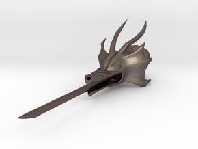 Dragon Samurai in Polished Bronzed Silver Steel