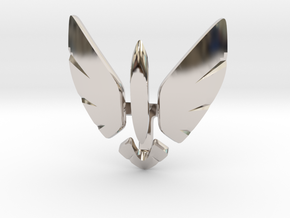 Eagle Jet Moded pendant in Rhodium Plated Brass