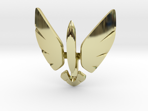 Eagle Jet Moded pendant in 18k Gold Plated Brass