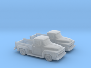 1/160 2X 1956 Ford F100 in Smooth Fine Detail Plastic