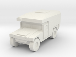1/144 12mm scale US Army M997 Humvee HMMWV Aircond in White Natural Versatile Plastic