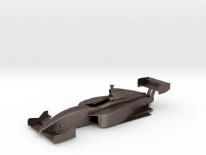 Dallara IPS Indy Lights Chassis in Polished Bronzed Silver Steel