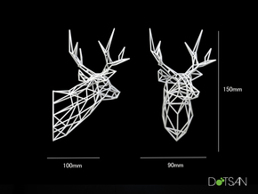 Wired Life Stag 150mm Facing Left in White Natural Versatile Plastic