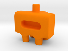 Tiny Astronaut Ugly Friend in Orange Processed Versatile Plastic
