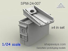 1/24 SPM-24-007  .30cal (7,62mm) ammobox opened in Smoothest Fine Detail Plastic