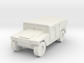 1/160 US Army M1035 Humvee HMMWV Hummer H1 in White Natural Versatile Plastic