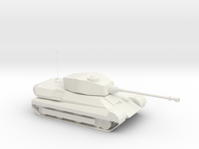 1/87th scale tank in White Natural Versatile Plastic
