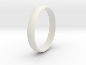 Traditional Smooth Ring  in White Natural Versatile Plastic: 4.5 / 47.75