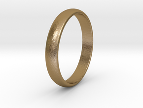 Traditional Smooth Ring  in Polished Gold Steel: 5.5 / 50.25