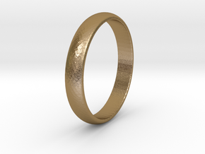 Ring Size 7  smooth in Polished Gold Steel