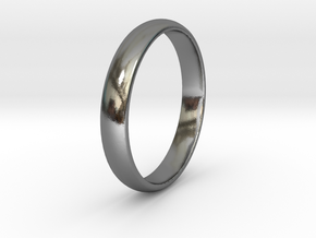 Ring Size 7 1I2 smooth in Polished Silver