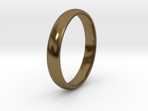 Ring Size 10 smooth in Polished Bronze