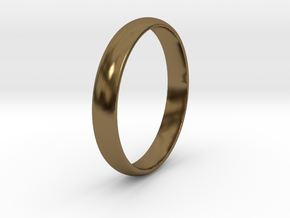 Ring Size 13 smooth in Polished Bronze