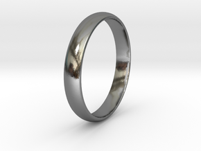 Ring Size 13 smooth in Polished Silver