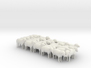 1:64 Scale J Wagon Sheep Load Variation 5 in White Natural Versatile Plastic