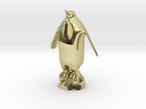 Penguin 3D Print in 18k Gold