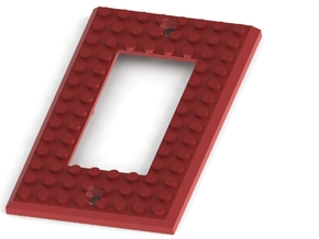 Lego based Switch Cover Plate (Single rocker) BETA in White Natural Versatile Plastic