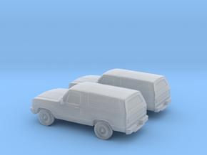 1/160 2X 1993 Dodge Ramcharger in Smooth Fine Detail Plastic